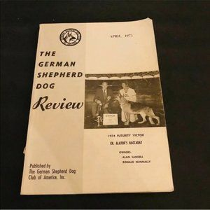 German Shepherd Dog Review April 1975 GSD Book